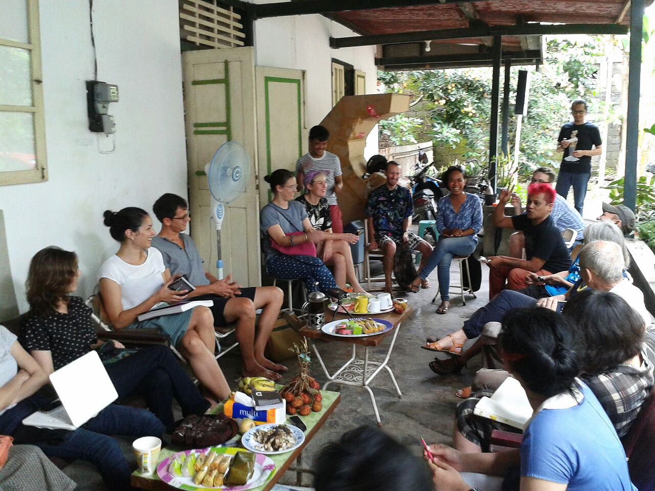 Curating Organisations (Without) Form:  A public conversation. Photo: Fajar Riyanto.