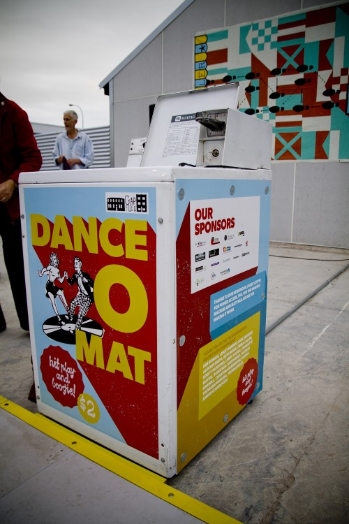 Where the magic happens! Dance-O-Mat. Photo: Gap Filler.