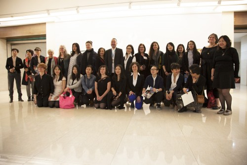 Gallery Director Wang Yi Gang with Chinese artists and U.S. delegate artists. Photo Christine Giancola.