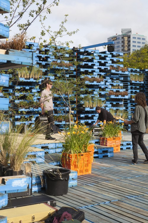 Pallet Pavilion. Photo: Guy Frederick, 2012.