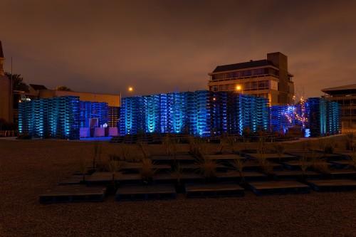 Pallet Pavilion. Photo: Murray Irwin, 2013.