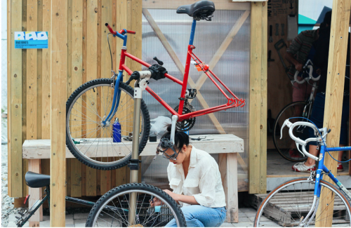RAD Bikes – a community bike shed. Photo: Naomi Haussmann 2013.