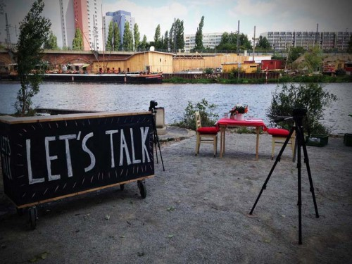 The 'Mobile Laboratory', at the Spree River, Berlin, August 2014. © Terry Kurgan