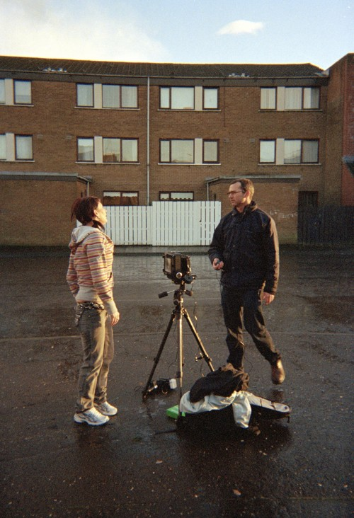Documentation of the making of Assisted Self-Portrait of Maggie Irvine from Residency by Anthony Luvera, 2006-2008.