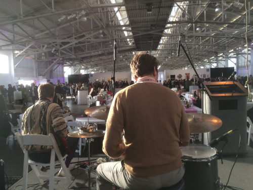 A view with the band. Headlands Center for the Arts auction at the Fort Mason Center 2015.