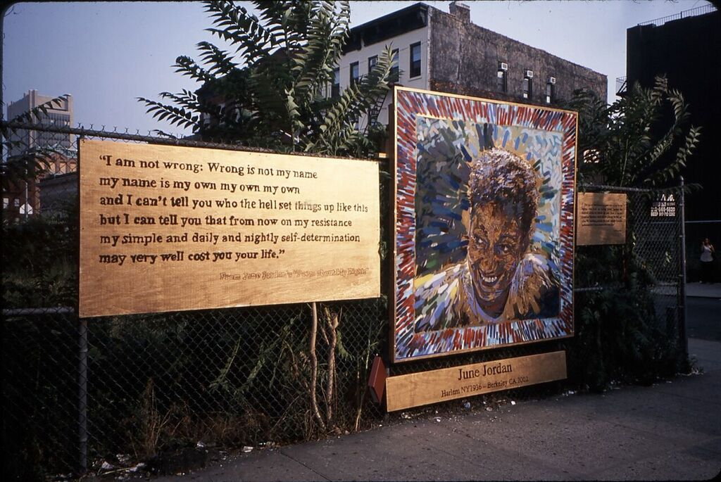June Jordan Collaborative Community Project  127th Street and St. Nicholas/8th Avenue, Harlem, NYC July 2002