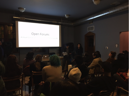 Open Forum was held on April 7, 2016 Organizing presenters included: Mia Lopez, Brit Barton, Gibran Villalobos, Josh Rios  and J. Soto Image credit: ACRE